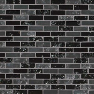 Glissen 0.62″ x 2″ Glass Mosaic Tile in Black