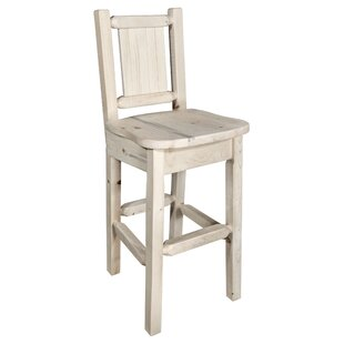 Abella Slat Back 24 Bar Stool Loon Peak
