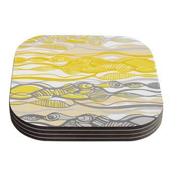 26 x 26 Square Floor Pillow Kess InHouse Nicole Ketchum Bee Highway