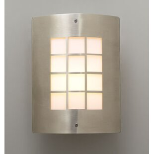 Read Reviews Upshaw 1-Light Outdoor Flush Mount By Ebern Designs