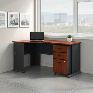 Series A Left Corner L-Shape Desk With File Cabinet by Bush Business Furniture Top Reviews