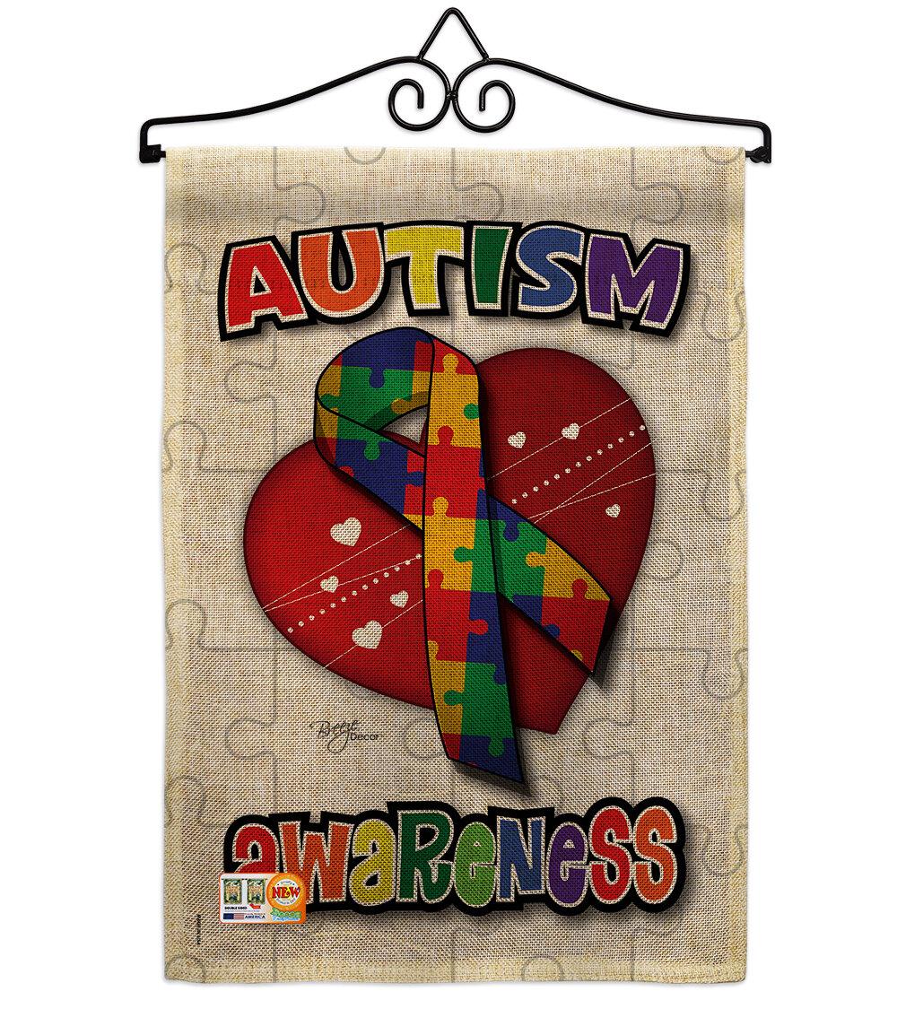 Breeze Decor Autism Awareness Burlap Inspirational Support 2 Sided Polyester 19 X 13 In Garden Flag Wayfair