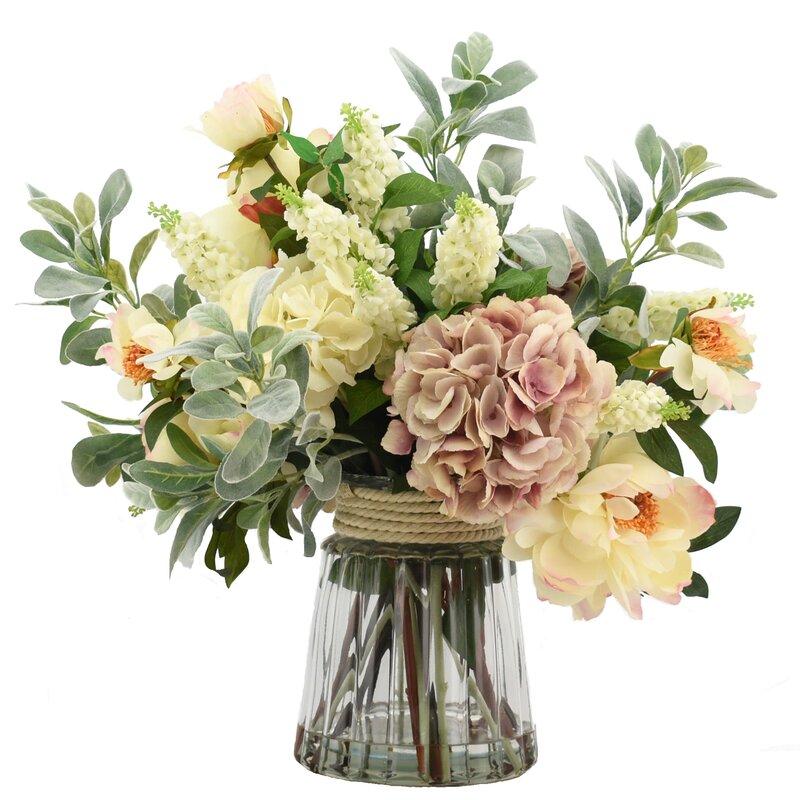 Creative Displays Inc Mixed Floral Arrangement In Glass Vase Perigold