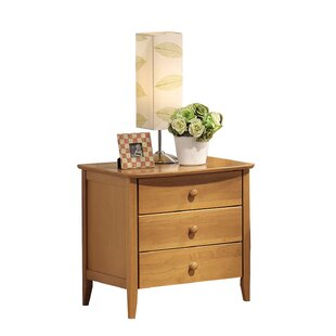 Frida 3 Drawer Nightstand by Harriet Bee Discount