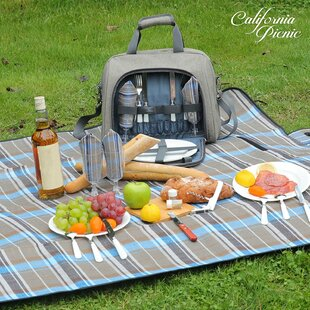 Picnic Tote Bag, Service for 4