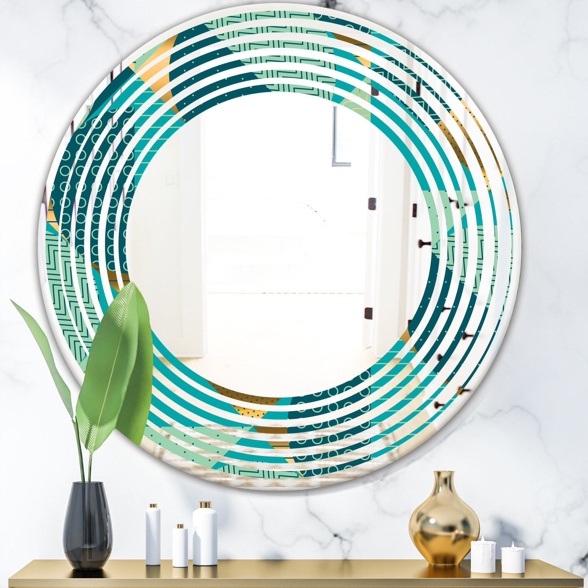East Urban Home Dynamics Ii Wave Modern Contemporary Frameless Wall Mirror Wayfair