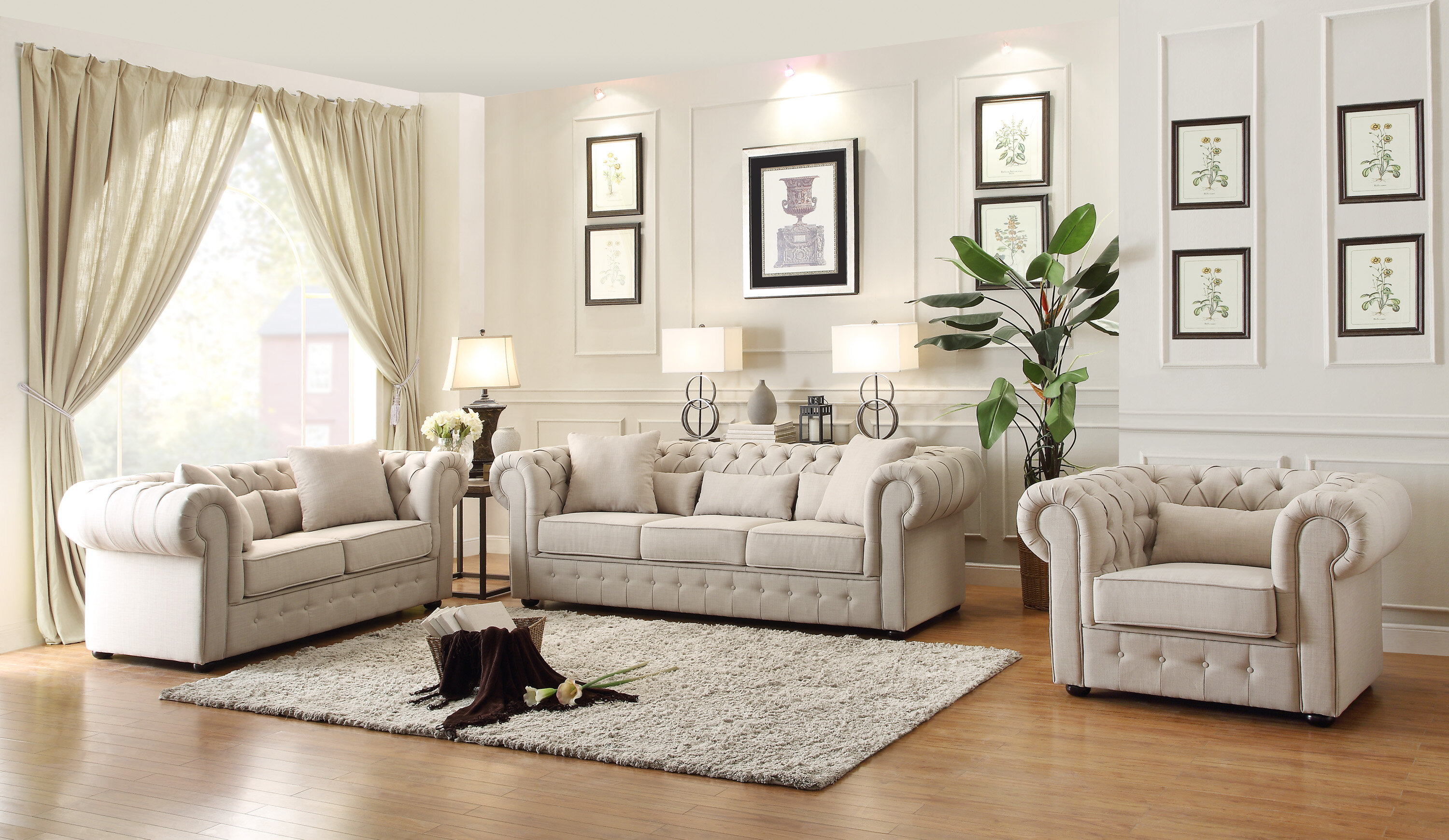 Darby Home Co Pearlie Configurable Living Room Set & Reviews | Wayfair