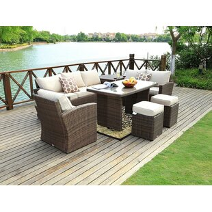 Nate 7 Piece Rattan Sofa Set with Cushions