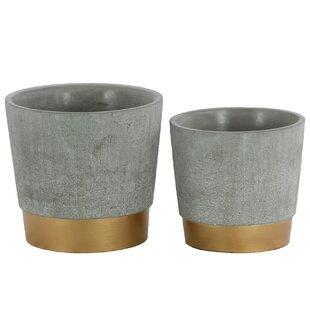 Bumgardner 2-Piece Cement Pot Planter Set