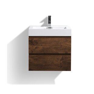 Sinope 24 Wall-Mounted Single Bathroom Vanity Set ByOrren Ellis