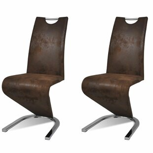 Adamsville Upholstered Dining Chair (Set of 2) Orren Ellis
