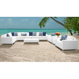 Miami 11 Piece Sectional Seating Group with Cushions