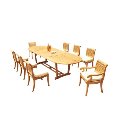 Maskell 9 Piece Teak Dining Set by Rosecliff Heights Looking for
