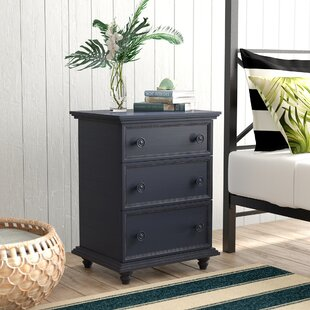 Affordable Price Mary Jane 3 Drawer Nightstand by Beachcrest Home