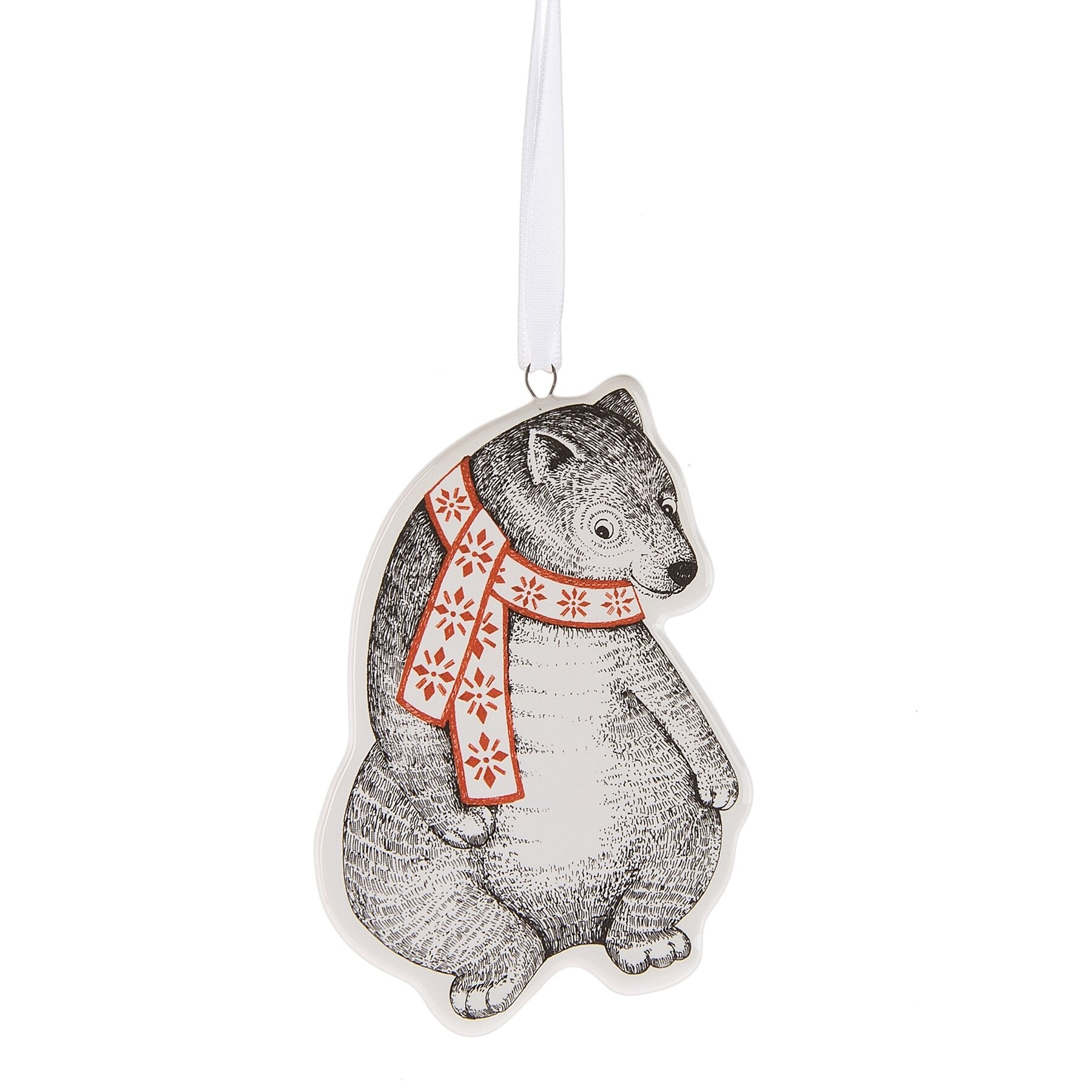 The Holiday Aisle Bear Wearing Scarf Christmas Hanging Figurine Ornament Reviews Wayfair