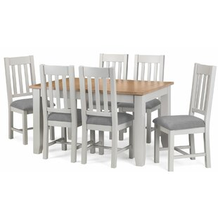 Port Mahon Extendable Dining Set With 6 Chairs By Beachcrest Home