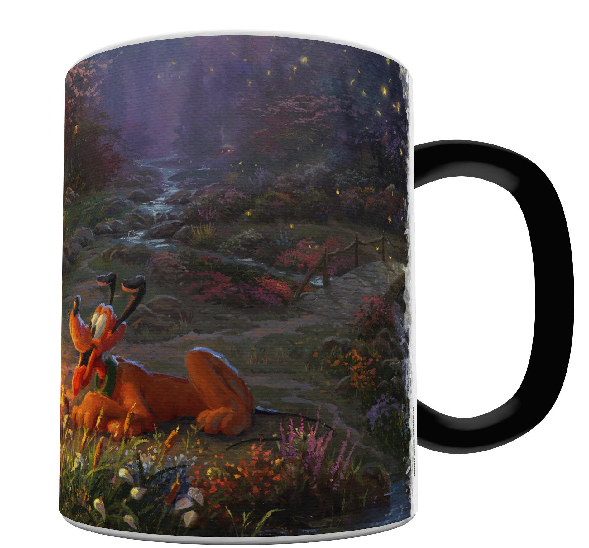 Morphing Mugs Disney Mickey And Minnie Mouse Campfire Thomas Kinkade Heat Sensitive Color Changing Heat Reveal Coffee Mug Wayfair