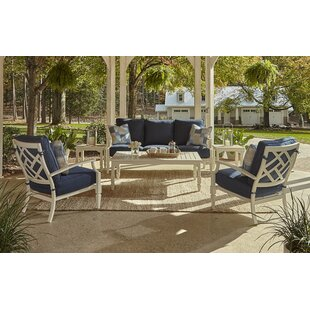 Klaussner Furniture Mimosa 6 Piece Sunbrella Sofa Set with Cushions