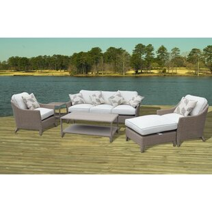 Rosecliff Heights Nantucket Premium 6 Piece Sofa Set with Cushions