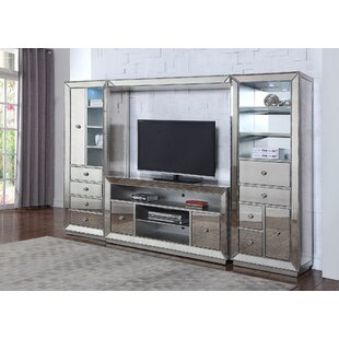 Mirrored Entertainment Center for TVs up to 65