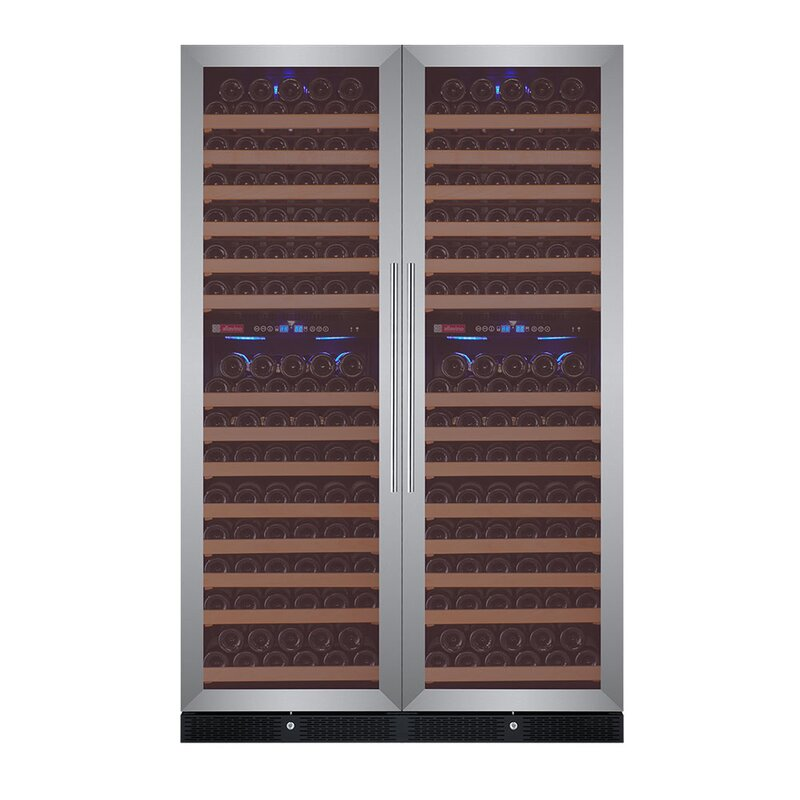 Allavino 344 Bottle FlexCount Classic Series Four Zone Convertible Wine Cellar  Finish: Stainless Steel