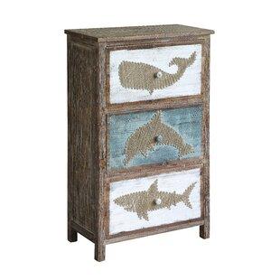 Forbes Rustic Shark Accent Chest by Longshore Tides