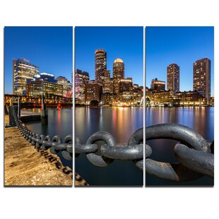 Buyartforless Boston Strong Proud Towns of Boston Mass Gallery Wraped Canvas by Brandi Fitzgerald