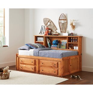 Stela Twin Mates  Captains Bed with 4 Drawers and Shelves by Harriet Bee
