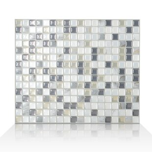 Minimo Noche 29 34cm X 24 49cm L Stick Mosaic Tile In White Grey