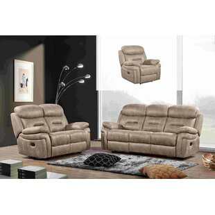 Israel Reclining 3 Piece Living Room Set by