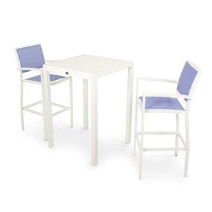 POLYWOOD® Bayline™ 3 Piece Bar Height Dining Set