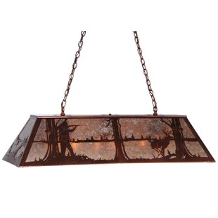 Meyda Tiffany Deer Hunter 9-Light Pool Table Light