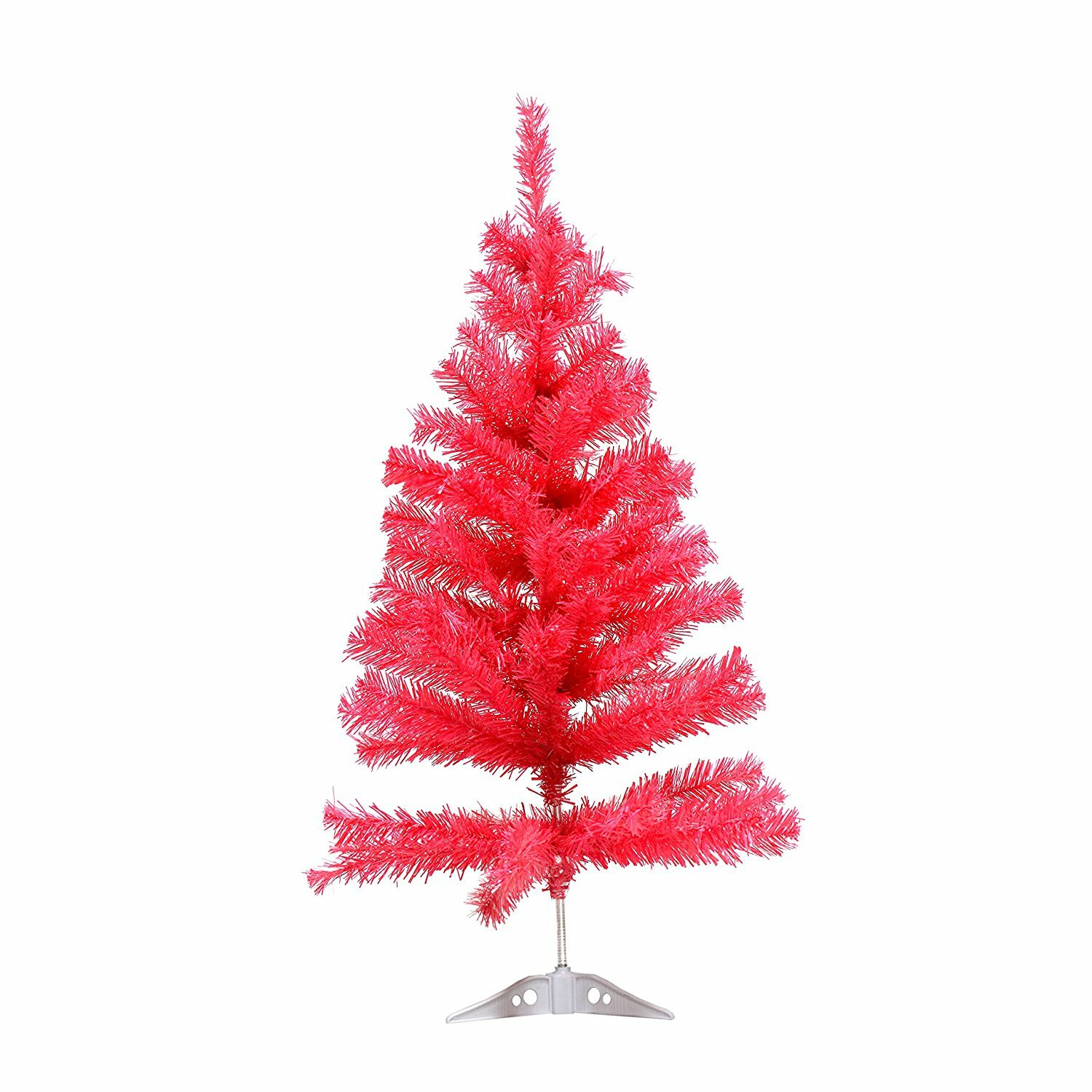 The Holiday Aisle Miniature 3\' Pink Pine Artificial Christmas Tree ...