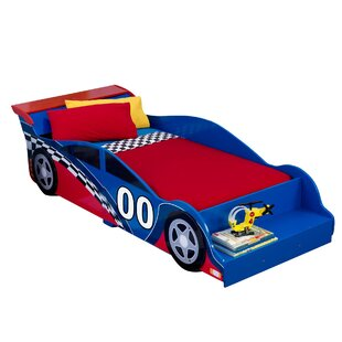 KidKraft Racecar Toddler Car Bed