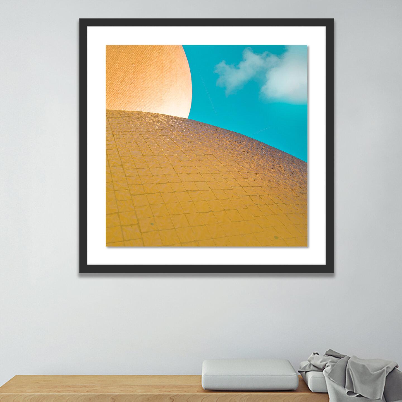 Cyan Ii 7 By Oystein Aspelund Picture Frame Graphic Art Print On Paper Allmodern