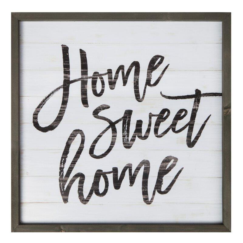 Home Sweet Home Frame Wall Décor Birch Lane