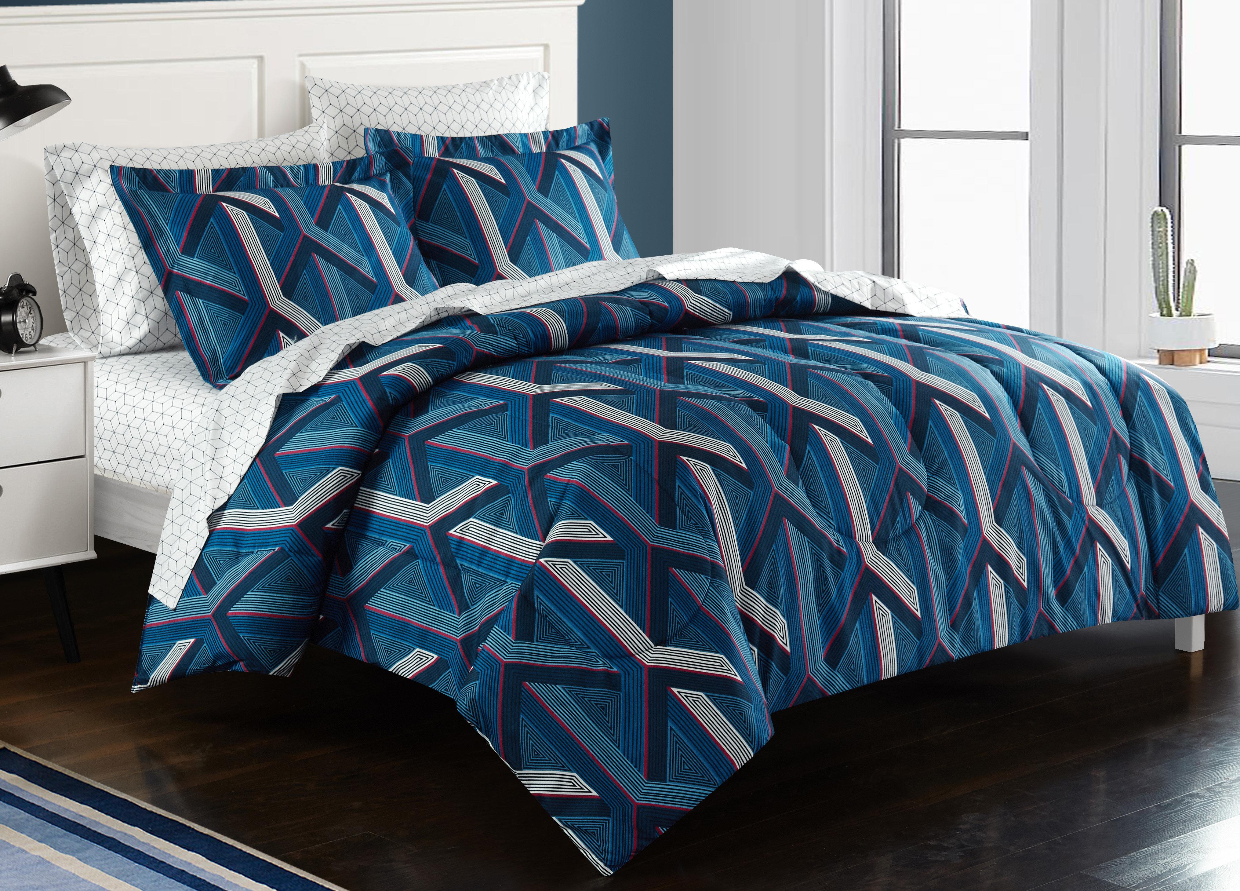 Latitude Run Chatom Reversible Comforter Set Reviews Wayfair