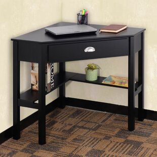 Hueramo Solid Wood Corner Writing Desk by Latitude Run
