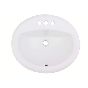 Read Reviews Ceramic Oval Drop-In Bathroom Sink with Overflow By Royal Purple Bath Kitchen