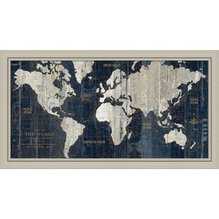 World map framed art youll love wayfair old world map framed graphic art gumiabroncs Image collections