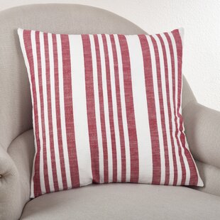 Carmel Striped Cotton Throw Pillow