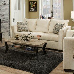 Simmons Upholstery Chestnut Modern Sofa by Winston Porter