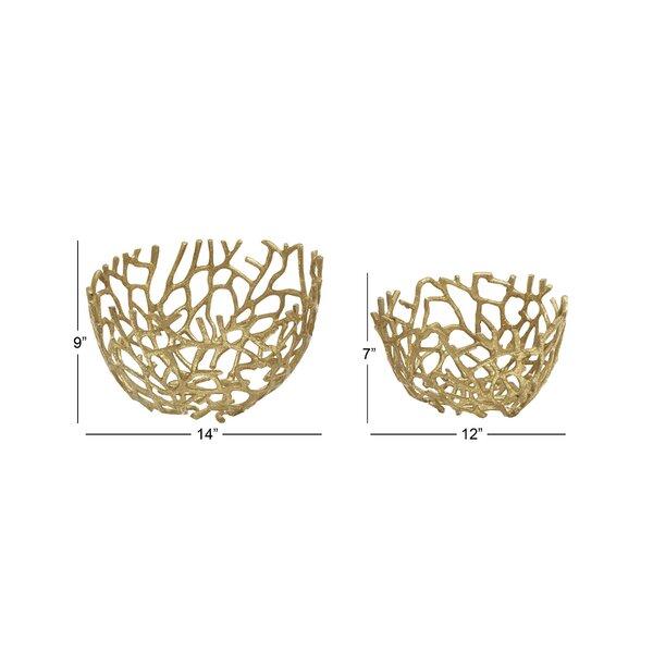 Highland Dunes 2 Piece Decorative Bowl Set Reviews Wayfair