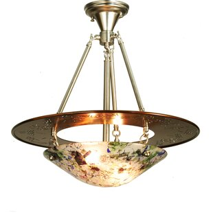 Metro Fusion Super Nova 3-Light Semi-Flush Mount by Meyda Tiffany