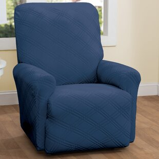 Double Diamond Box Cushion Recliner Slipcover By Red Barrel Studio