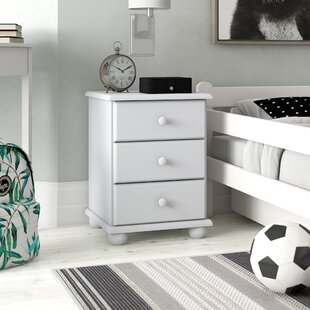 Kaniel 3 Drawer Nightstand By Harriet Bee