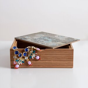 French Blue Jewelry Box by East Urban Home