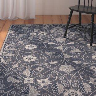 Julia Garden Maze Blue Indoor/Outdoor Area Rug