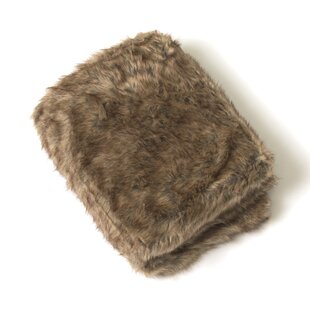 Onondaga Coyote Faux Fur Throw