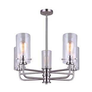 Reviews Dayna 5-Light Shaded Chandelier By Williston Forge